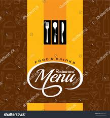 restaurant menu card design template creative stock vector