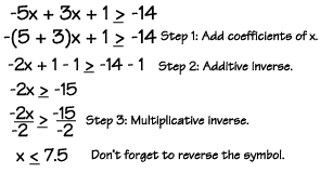 equations and inequalities two step equations and inequalities