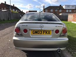 lexus is 200 2 0 s 4dr p x welcome 2003 saloon 95 000 miles manual