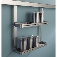 tringle de cuisine etagère à épices pour barre de crédence métal l 26 x h 30 cm leroy