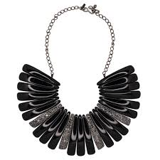 bib necklace black images Black hematite bib necklace jpg