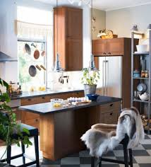 Ikea Kitchen Designs Photo Gallery Captivating Ikea Small Kitchen Design With Wooden Floating