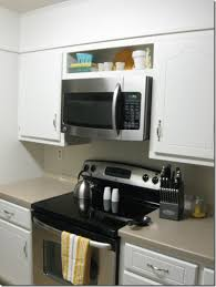 over the range microwave cabinet ideas hung up bean in love