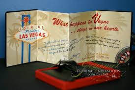 vegas wedding invitations bryan leather las vegas wedding invitations gourmet
