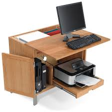 computer desk with cpu storage timberland computer desk with cpu and printer storage printer