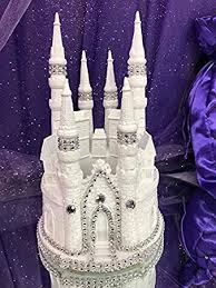 amazon com white fairytale castle cake top cake topper decorated