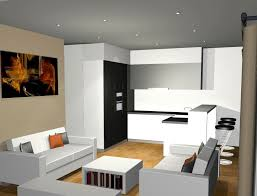deco salon et cuisine ouverte plan cuisine ouverte sur salon plan de travail pour cuisine blanche