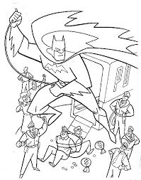 batman robin cartoon pictures coloring