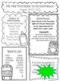 16 best first grade newsletters images on pinterest newsletter