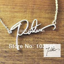 custom necklaces cheap aliexpress buy name necklace custom signature necklace