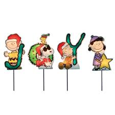 amazon com productworks 8 inch pre lit peanuts joy christmas