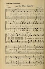 as the day breaks hymnary org