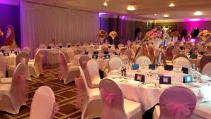 wedding wishes birmingham wedding breakfast with uplighting symphony ballroom hyatt