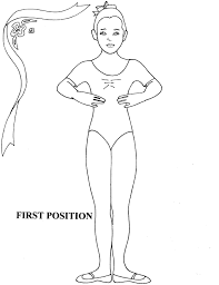 ballet positions coloring pages cecilymae