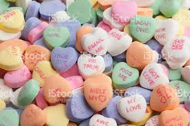 heart shaped candy candy hearts message heartshaped background stock