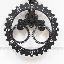 amazon com modern contemporary mechanical gear wall clock with