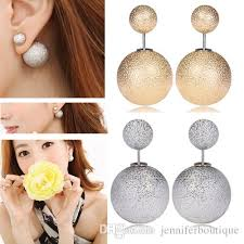 two sided earrings hot sale new fashion jewelry hot sale peekaboo earrings