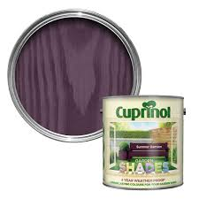 Diy L Shade Cuprinol Garden Shades Summer Damson Matt Wood Paint 2 5l Garden