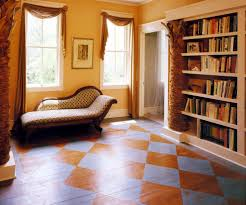 paint hall atlanta concrete floor paint hall eclectic with diamond patterned