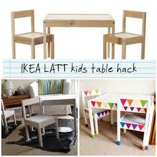 Ikea Childrens Table And Chairs by Ikea Latt Kids Table Hack Rainbow Bunting Play Pinterest