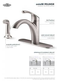 how to install a kohler kitchen faucet mistos kitchen faucet in stainless steel how to install kohler