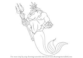 learn draw king triton mermaid