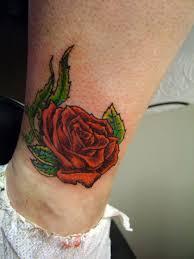 rose tattoos on ankle cool tattoos bonbaden