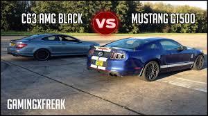 Black Mustang Gt500 Forza Horizon 2 Car Showdown C63 Amg Black Edition Vs Mustang