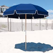 Beach Shade Umbrella 7 5 Ft Frankford Acrylic Beach Spf 50 Umbrella With Valance