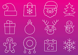 christmas line icon vectors download free vector art stock