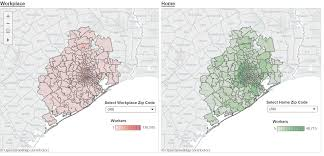 Houston Area Zip Code Map by Commuting Patterns In H Gac Region Houston Galveston Area