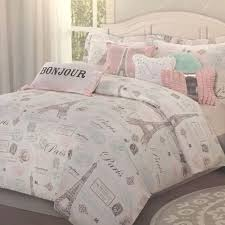 Pink Down Comforter Twin 7pc Paris Bedding Set Eiffel Tower Pink Aqua Twin Comforter Sheet