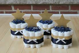 set of 4 mini navy and gold twinkle twinkle diaper cake set