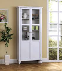 Kitchen Cabinets With Glass Amazon Com Homestar 2 Door Storage Cabinet White China Cabinets