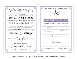 wedding ceremony program templates template wedding program template