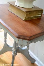Distressed Table Anderson Grant Painting A Vintage Table