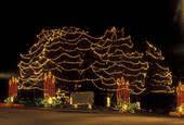 stock image of christmas decorations stone mountain ga georgia