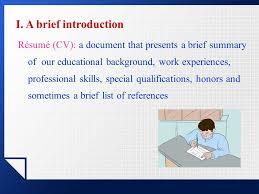 résumés résumé cv a document that presents a brief summary of