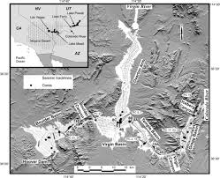 Lake Mead Map Seismic Architecture And Lithofacies Of Turbidites In Lake Mead