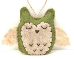 personalized owl ornament 2017 name ornament handmade