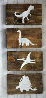 Dinosaur Rustic Wood Decor Set Rustic Nursery Door RusticLuvDecor - Kids dinosaur room