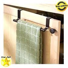 kitchen cabinet towel rail in cabinet towel rack over cabinet towel bar cabinet door mount