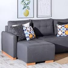 coussin canapé gris folk canapé d angle convertible réversible avec les coussins