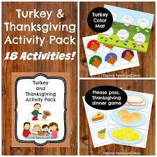 turkey thanksgiving printable activity pack daycare spaces and ideas