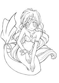 anime mermaid coloring pages just colorings