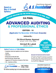 a s foundation advanced auditing and professional ethics for ca