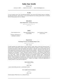 Clerical Sample Resume by The Resume Builder
