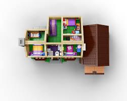 Simpsons Floor Plan The Lego Simpson U0027s House Is A Work Of Art Kotaku Australia