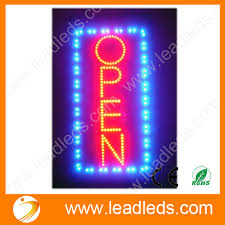 shop open sign lights animated motion running led business open sign on off switch bright