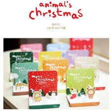 3d christmas cards 6 sets lovely animal christmas card with envelope set 3d